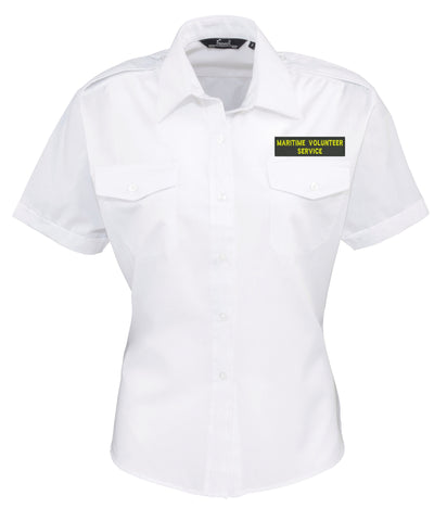 MVS Manchester<br> Ladies Short Sleeve Pilot Shirt