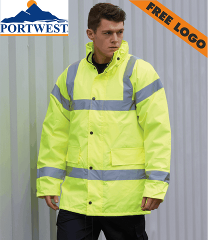 4 x Portwest Traffic Jackets For £99 - Includes Free Logo!