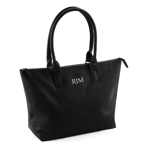 Personalised PU Leather-Look Tote Bag