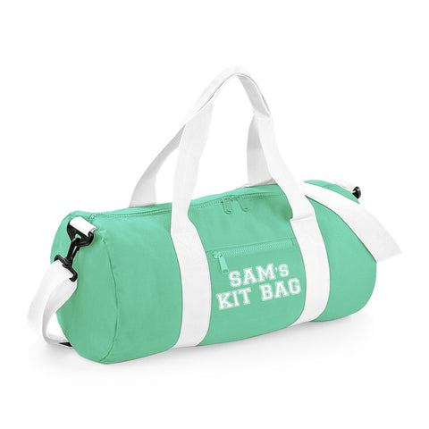Personalised Sports Barrel Bag