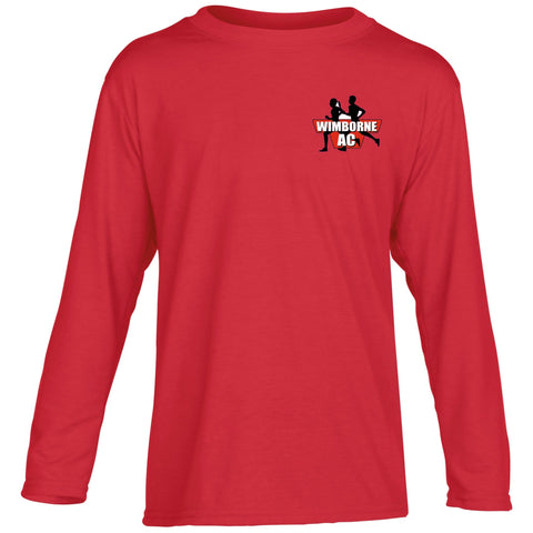 Wimborne AC <br>Junior Long Sleeve Performance Tee
