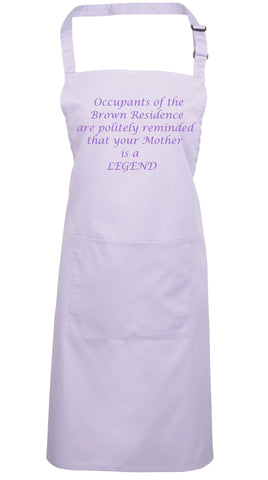 "Personalised Polite Notice ""Legend"" Apron"