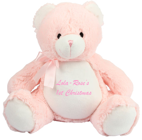 Personalised Pink Baby Bear