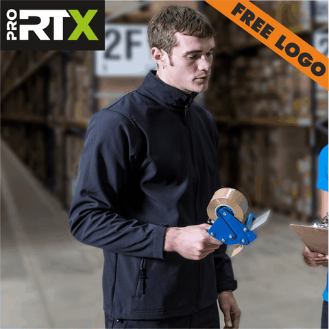 4 x RTX Pro Softshell Jackets For £99 - Includes Free Logo!