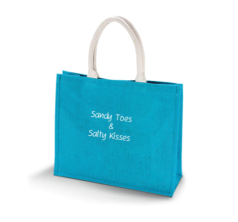 Personalised Jute Beach Bag
