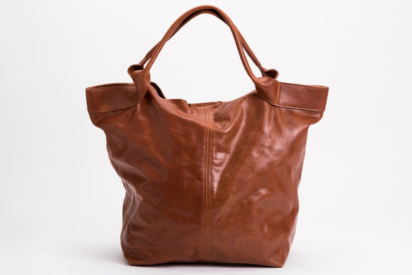 The Oversized Tote | Oversized Tan Leather Tote | Albert Tusk Leather Goods Online