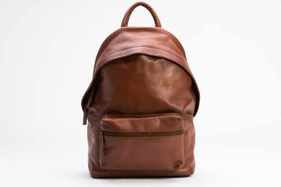 The Founders Backpack | Tan Leather Backpack | Albert Tusk Leather Goods Online
