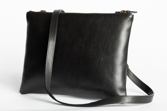 The Crossbody Clutch | Black Crossbody Clutch | Albert Tusk Leather Goods Online
