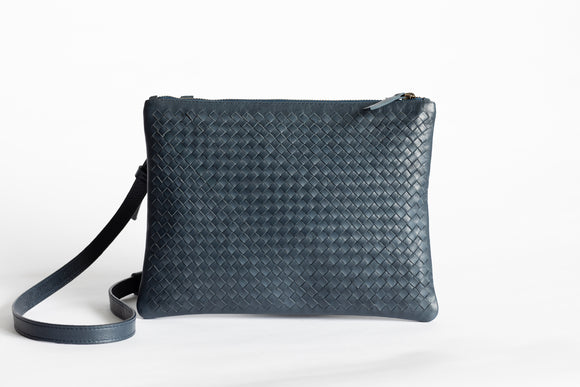 The Crossbody Clutch | Blue Crossbody Clutch | Albert Tusk Leather Goods Online