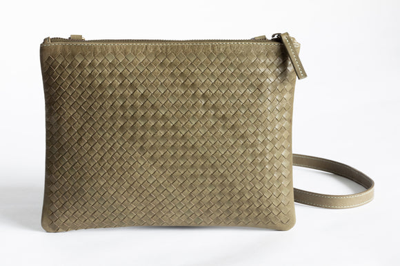 The Crossbody Clutch | Green Crossbody Clutch | Albert Tusk Leather Goods Online