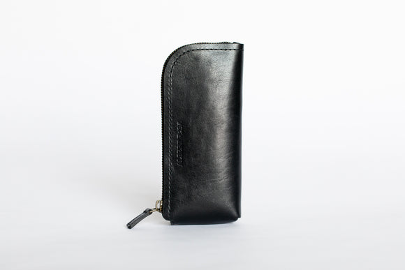 The Daily Pouch | Black Leather Pouch | Albert Tusk Leather Goods Online