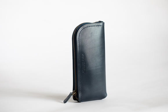 The Daily Pouch | Blue Leather Pouch | Albert Tusk Leather Goods Online
