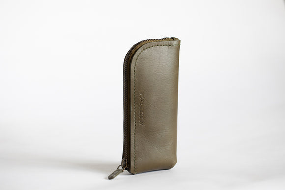The Daily Pouch | Olive Leather Pouch | Albert Tusk Leather Goods Online