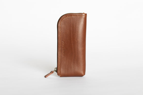 The Daily Pouch | Tan Leather Pouch | Albert Tusk Leather Goods Online