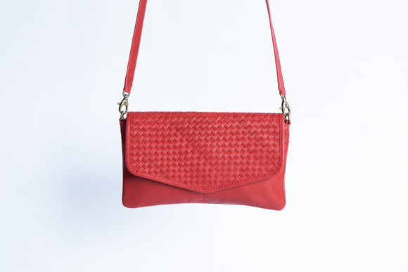 The Everyday Sling | Red Everyday Sling | Albert Tusk Leather Goods Online