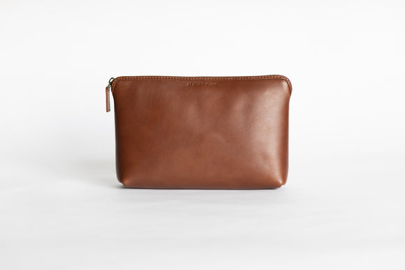 The Large Pouch | Tan Leather Pouch | Albert Tusk Leather Goods Online