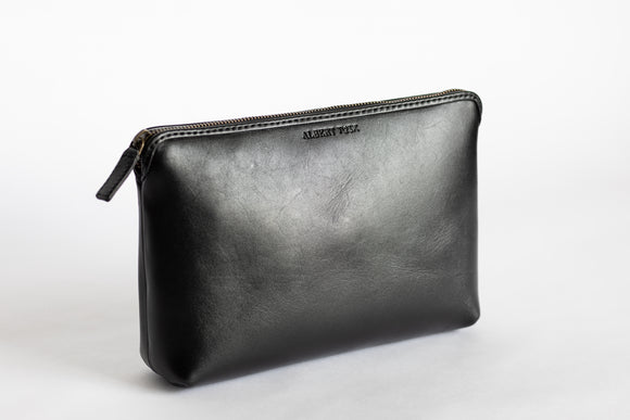 The Large Pouch | Black Leather Pouch | Albert Tusk Leather Goods Online