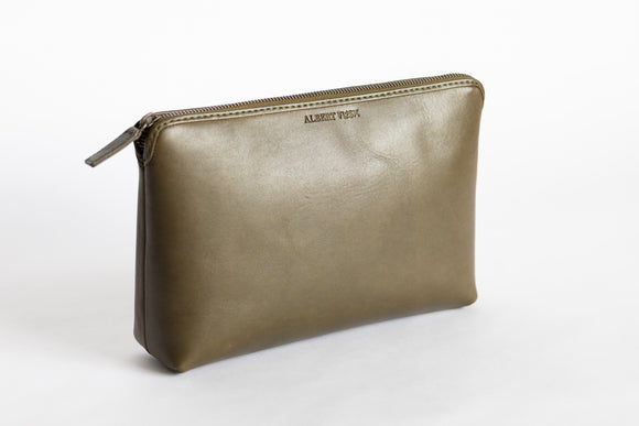The Large Pouch | Green Leather Pouch | Albert Tusk Leather Goods Online