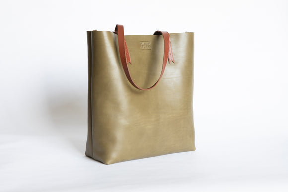 The Large Tote | Green Leather Tote Bag | Albert Tusk Leather Goods Online