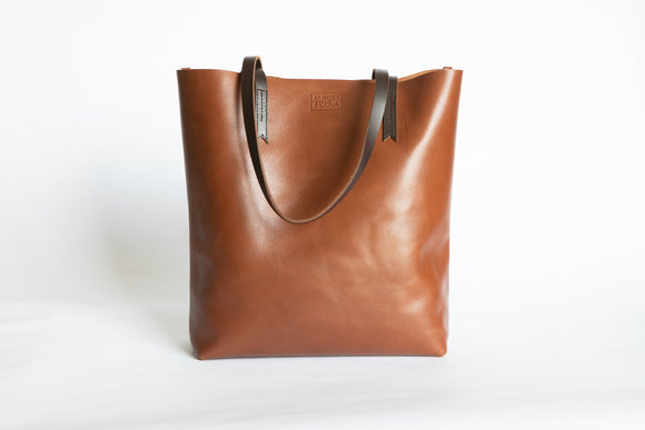 The Large Tote | Tan Leather Tote Bag | Albert Tusk Leather Goods Online