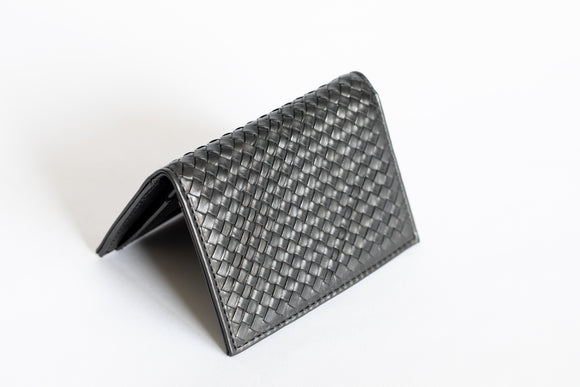 The Business Cardholder | Black Leather Cardholder | Albert Tusk Leather Goods Online