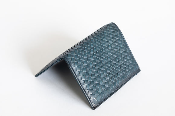 The Business Cardholder | Blue Leather Cardholder | Albert Tusk Leather Goods Online