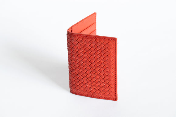 The Business Cardholder | Red Leather Cardholder | Albert Tusk Leather Goods Online