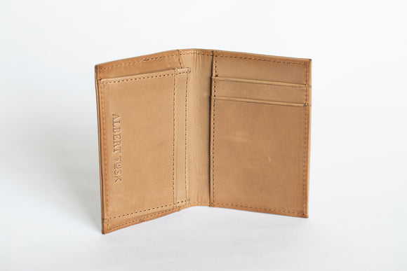 The Business Cardholder | Light Brown Leather Cardholder | Albert Tusk Leather Goods Online