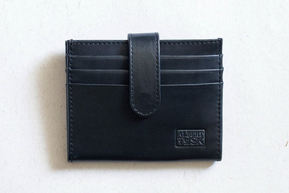 The Card Junkie | Black Leather Wallet / Cardholder | Albert Tusk Leather Goods Online