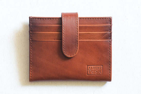 The Card Junkie | Tan Leather Wallet / Cardholder | Albert Tusk Leather Goods Online