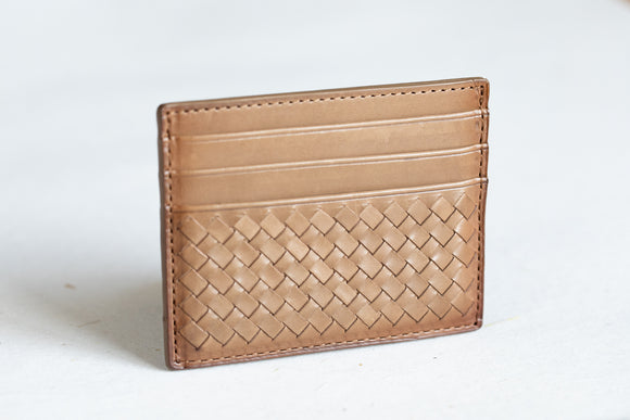 The Slim Cardholder | Light Brown Leather Cardholder | Albert Tusk Leather Goods Online