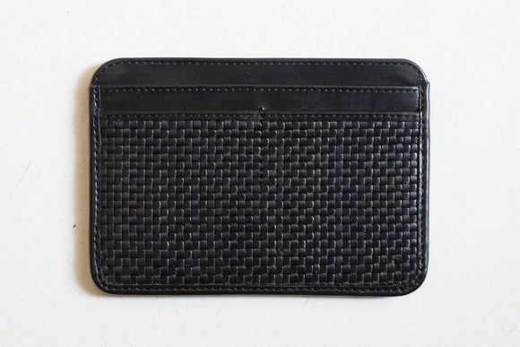 The Passport Sleeve | Black Leather Passport Holder | Albert Tusk Leather Goods Online