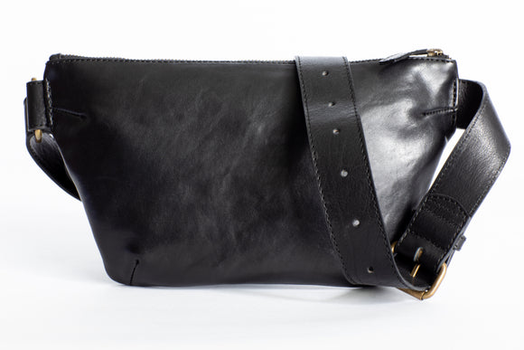 The Waist Bag | Black Waist Pouch / Pack / Bag | Albert Tusk Leather Goods Online
