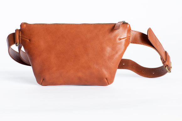 The Waist Bag | Tan Waist Pouch / Pack / Bag | Albert Tusk Leather Goods Online