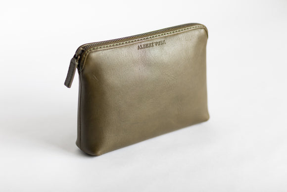 The Medium Pouch | Green Leather Pouch | Albert Tusk Leather Goods Online