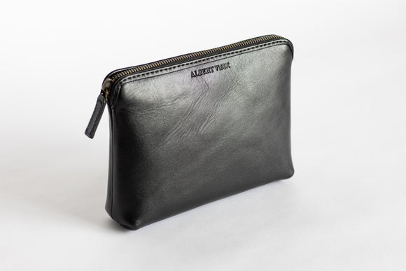 The Medium Pouch | Black Leather Pouch | Albert Tusk Leather Goods Online