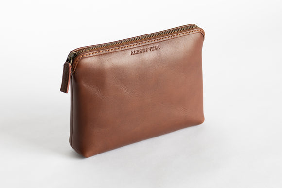 The Medium Pouch | Tan Leather Pouch | Albert Tusk Leather Goods Online