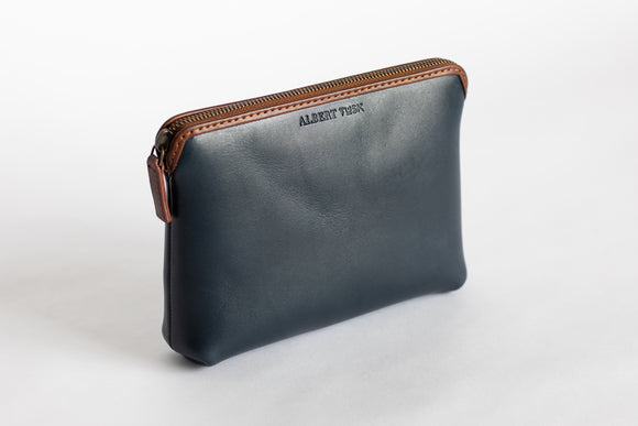 The Medium Pouch | Blue Leather Pouch | Albert Tusk Leather Goods Online