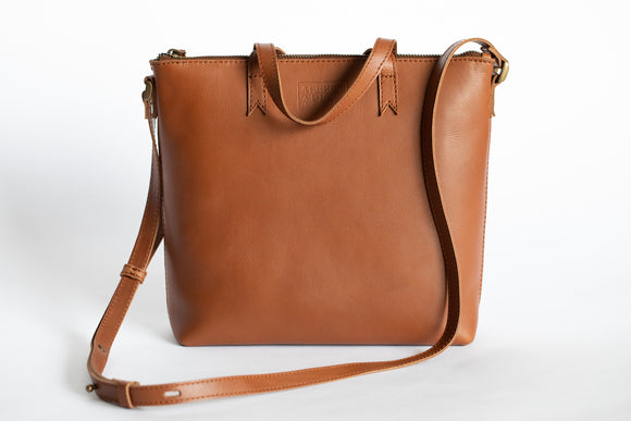 The Mini Tote | Tan Mini Tote | Albert Tusk Leather Goods Online
