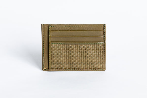 The Minimalist Wallet | Green Slim Leather Wallet | Albert Tusk Leather Goods Online
