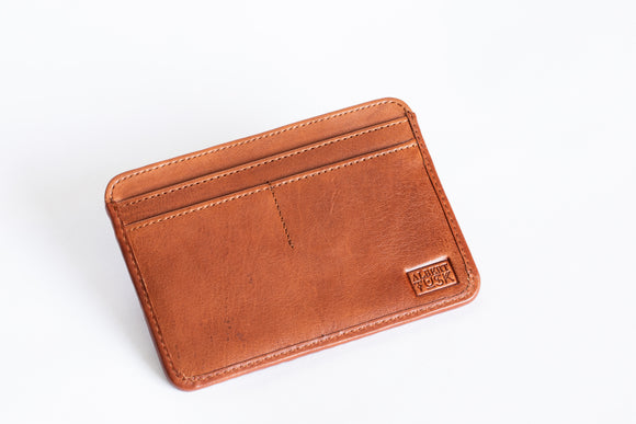 The Passport Sleeve | Tan Leather Passport Holder | Albert Tusk Leather Goods Online