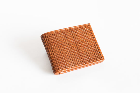 The Slim Bifold | Tan Leather Bifold Slim Wallet | Albert Tusk Leather Goods Online