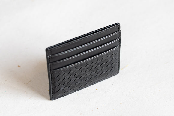 The Slim Cardholder | Black Leather Cardholder | Albert Tusk Leather Goods Online