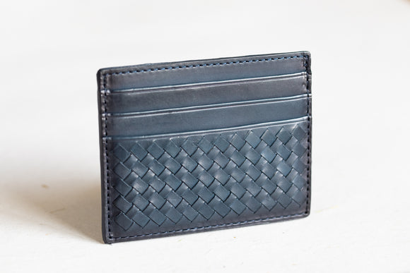 The Slim Cardholder | Blue Leather Cardholder | Albert Tusk Leather Goods Online
