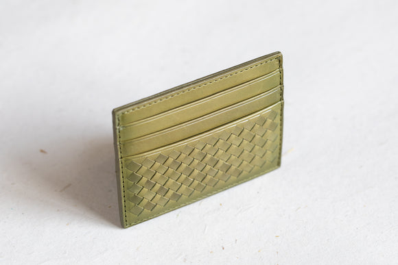 The Slim Cardholder | Green Leather Cardholder | Albert Tusk Leather Goods Online