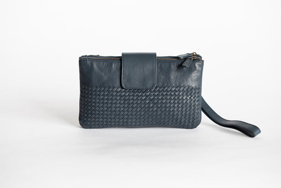 The Sling Wallet | Blue Weave Sling Wallet | Albert Tusk Leather Goods Online