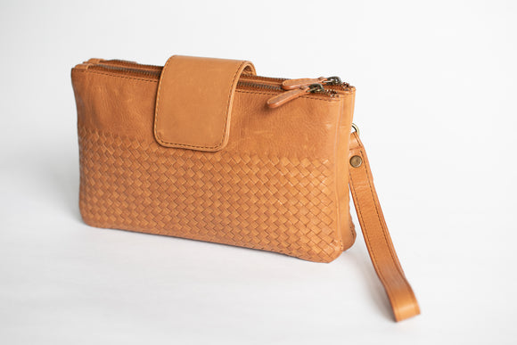 The Sling Wallet | Brown Weave Sling Wallet | Albert Tusk Leather Goods Online
