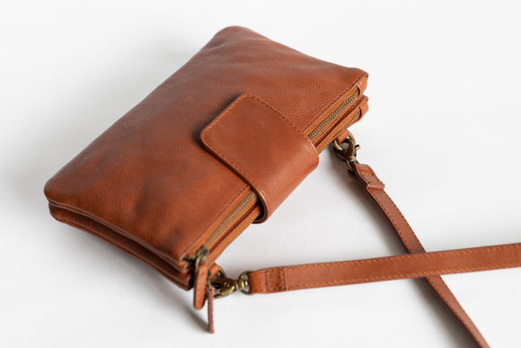 The Sling Wallet | Tan Sling Wallet | Albert Tusk Leather Goods Online