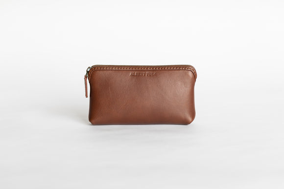 The Small Pouch | Tan Leather Pouch | Albert Tusk Leather Goods Online