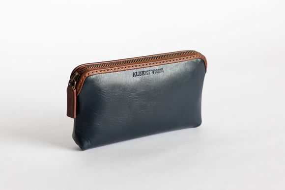 The Small Pouch | Blue Leather Pouch | Albert Tusk Leather Goods Online